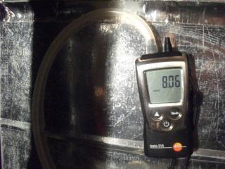 Измерение давления  магистрального газа.