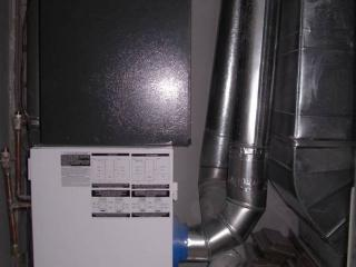 Внутренний блок в системе отопления, вентиляции и кондиционирования воздуха.