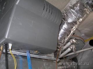 Установка увлажнителеля в систему отопления дома.